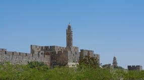 Die alte Stadtmauer von Jerusalem Lizenzfreies Stockfoto