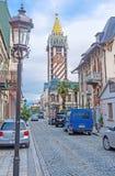 Die alte Stadtstraße Stockfotos