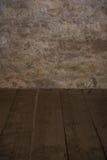 Die alte Steinwand und der Bretterboden Lizenzfreie Stockbilder