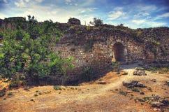 Die alte Straße Alte Ruinen bogen Landschaftshintergrund Lizenzfreies Stockbild