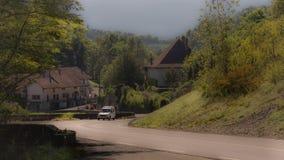 Die alte Straße Annecy frankreich Stockbild