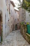 Die alte Straße in der französischen Stadt Nerac Lizenzfreies Stockbild
