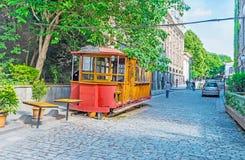 Die alte Tram in Tiflis Lizenzfreies Stockbild