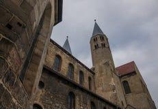 Die alte und alte Kirche in Halberstadt, Deutschland Lizenzfreies Stockbild