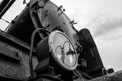 Die alte und historische Lokomotivlampe Lizenzfreie Stockfotografie