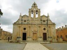 Die alte venetianische barocke Kirche von Arkadi Monastery in Rethymno, Kreta-Insel Lizenzfreies Stockbild