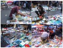 Die alte Version des Buchmarktes Stockfotos