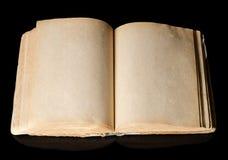 Die alten Bücher auf Schwarzem Lizenzfreie Stockbilder