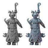 Die alten chinesischen Kriegerstatuen Lizenzfreie Stockfotografie