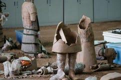 Die alten chinesischen Kulturdenkmäler Terra Cotta Warriorss lizenzfreie stockbilder