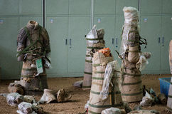 Die alten chinesischen Kulturdenkmäler Terra Cotta Warriorss Lizenzfreies Stockfoto