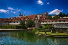 Die alten Gärten von Prag Stockbild