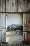 Die alten getragenen Bretter der Beschaffenheit die gebrochene Farbe, Lizenzfreie Stockfotografie