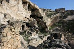 Die alten Höhlen in der Osttürkei Stockfoto