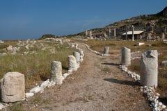 Die alten Ruinen in Knidos Lizenzfreie Stockfotografie