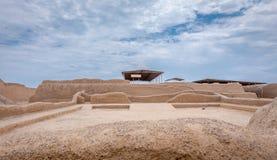 Die alten Ruinen von Chan Chan in Peru stockbilder