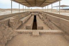 Die alten Ruinen von Chan Chan in Peru lizenzfreies stockfoto
