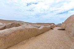 Die alten Ruinen von Chan Chan in Peru lizenzfreie stockbilder