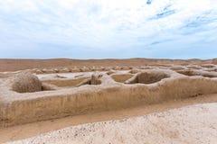 Die alten Ruinen von Chan Chan in Peru lizenzfreie stockfotografie