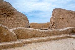 Die alten Ruinen von Chan Chan in Peru lizenzfreies stockbild