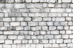 Die alten Steinwände Die Backsteinmauer des Hauses Grauer strukturierter Hintergrund Abstraktion Lizenzfreies Stockbild