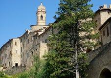Die alten Wände San Quirico Stockfoto