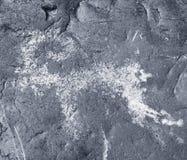 Die alten Zeichnungen auf Felsen Altai Stockfoto