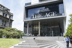 Die Alters-Hauptsitze (Medien-Haus), Melbourne, Asutralia stockbild