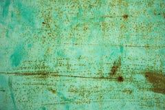 Die altes Metallblaue Wand mit Rost Stockbilder