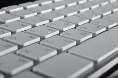 Die Aluminiumtastatur Stockfotografie