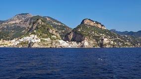 Die Amalfi-Küste Stockbild