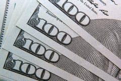Die amerikanische Banknote des Dollars 100 Lizenzfreie Stockfotos
