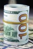 Die amerikanische Banknote des Dollars 100 Lizenzfreie Stockfotografie