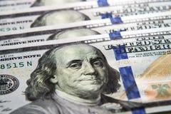 Die amerikanische Banknote des Dollars 100 Lizenzfreies Stockbild
