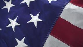 Die amerikanische Flagge stock video