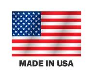 Die amerikanische Flagge, hergestellt USA vector Illustration stilvolles Design stock abbildung