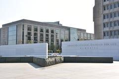 Die amerikanischen Veterane gesperrt für Leben-Denkmal in Washington, DC Stockbilder