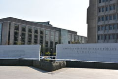 Die amerikanischen Veterane gesperrt für Leben-Denkmal in Washington, DC Lizenzfreie Stockfotografie