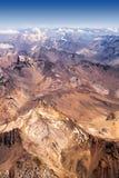 Die Anden in Chile lizenzfreies stockbild