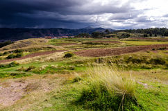 Die Anden in Peru Lizenzfreies Stockfoto
