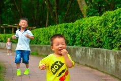 Die Anfangszeile der Kinder Lizenzfreies Stockfoto