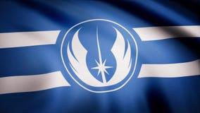 Die Animation der Flagge des Jedi-Bestellungs-Symbols Das Krieg der Sternes-Thema Gebrauch des Leitartikels nur stock abbildung