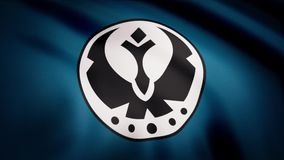 Die Animation der Flagge der galaktischen Vereinigung von freien Bündnissen Das Krieg der Sternes-Thema Gebrauch des Leitartikels lizenzfreie abbildung