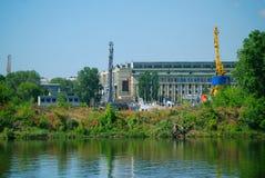 Die Anlage auf dem Fluss Volga Stockfotografie