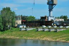 Die Anlage auf dem Fluss Volga Stockbild