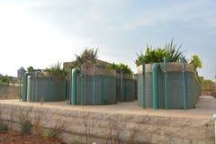 Die Anlage der weiter gehenden Abwasserreinigung Stockfotografie