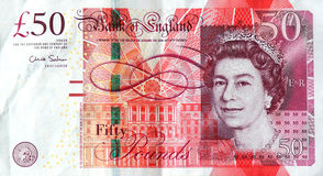 Die Anmerkung £50 Stockfoto