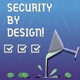 Die Anmerkung schreiben, die mit Absicht Sicherheit zeigt Präsentationssoftware des Geschäftsfotos ist von der Grundlage zum sich lizenzfreie abbildung