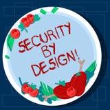 Die Anmerkung schreiben, die mit Absicht Sicherheit zeigt Präsentationssoftware des Geschäftsfotos ist von der Grundlage zur sich stock abbildung
