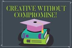Die Anmerkungsvertretung schreiben kreativ ohne Kompromiss Geschäftsfoto, das eine Maßnahme Goodwill und wenig Originalität Farbe lizenzfreie abbildung